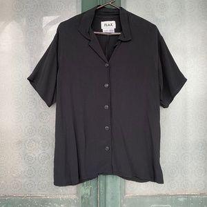 Flax Short Sleeve Rayon Shirt